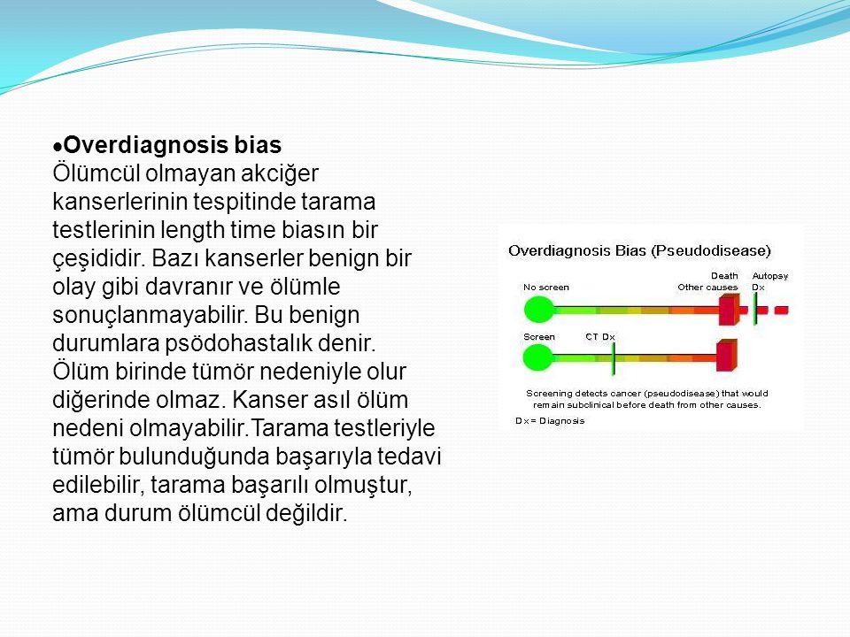Overdiagnosis bias