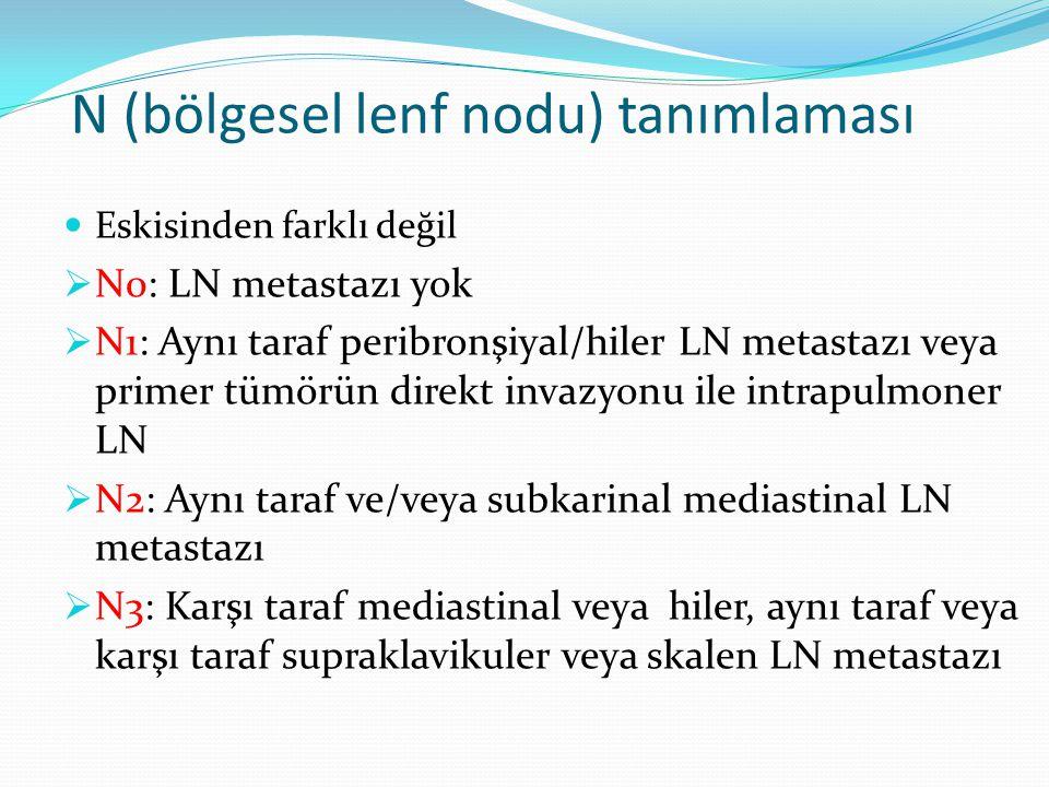 N (bölgesel lenf nodu) tanımlaması
