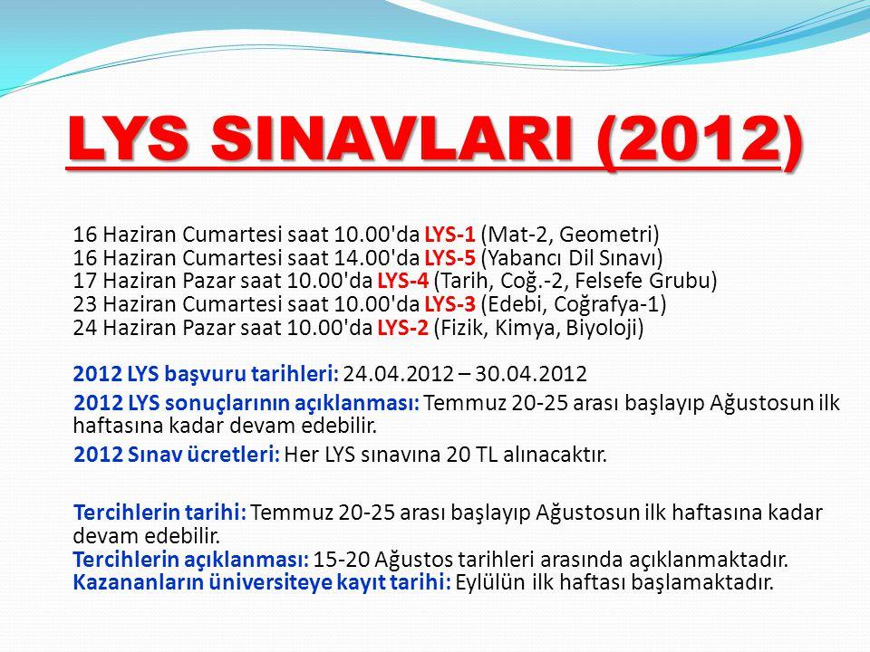 LYS SINAVLARI (2012)