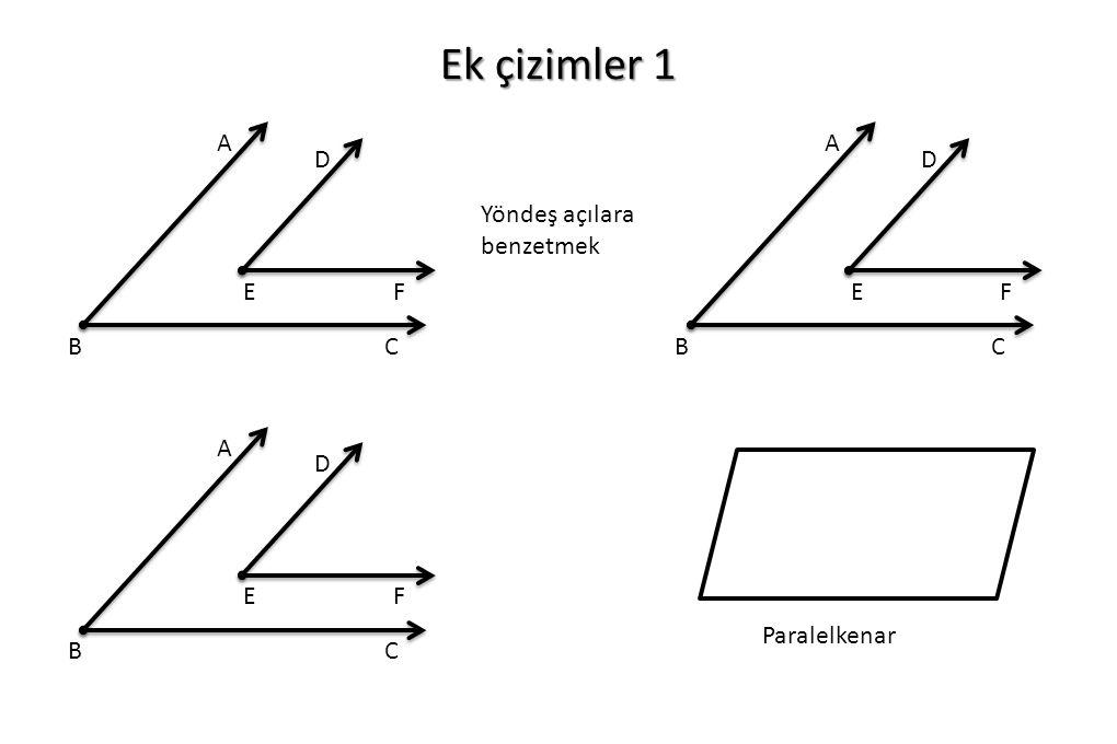 Ek çizimler 1 A B C D E F A B C D E F Yöndeş açılara benzetmek A B C D