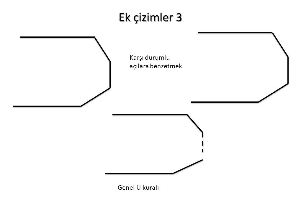 Ek çizimler 3 Karşı durumlu açılara benzetmek Genel U kuralı