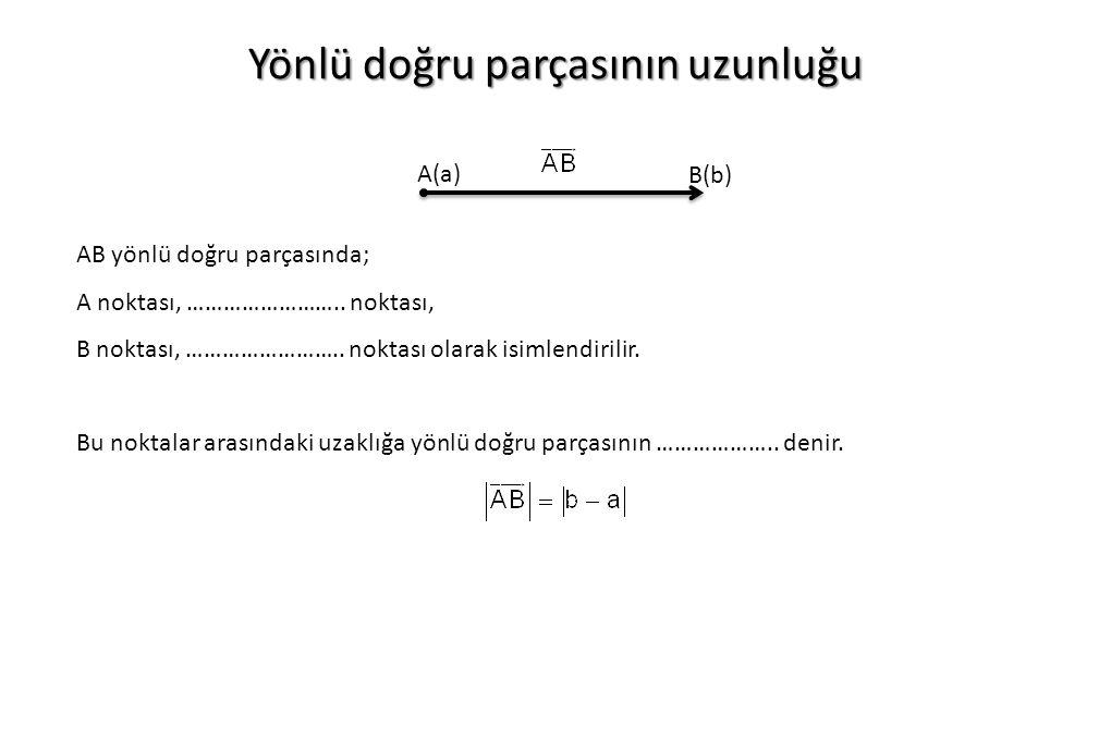 Yönlü doğru parçasının uzunluğu