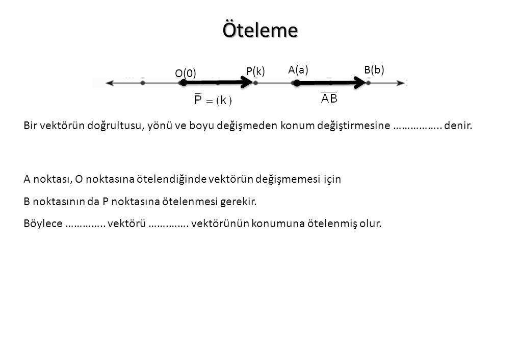 Öteleme P(k) A(a) B(b) O(0)
