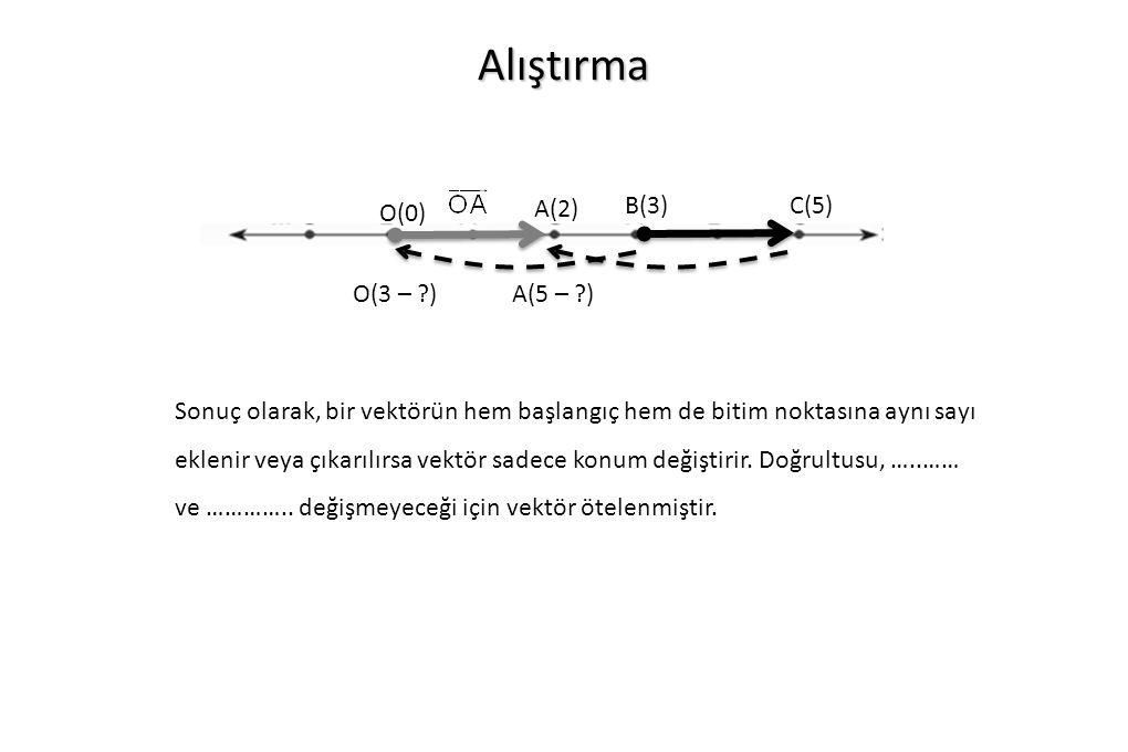 Alıştırma A(2) B(3) C(5) O(0) O(3 – ) A(5 – )