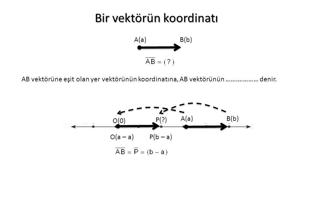Bir vektörün koordinatı