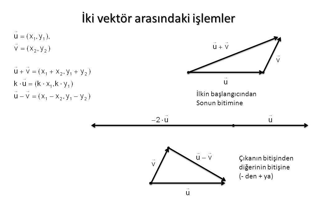 İki vektör arasındaki işlemler