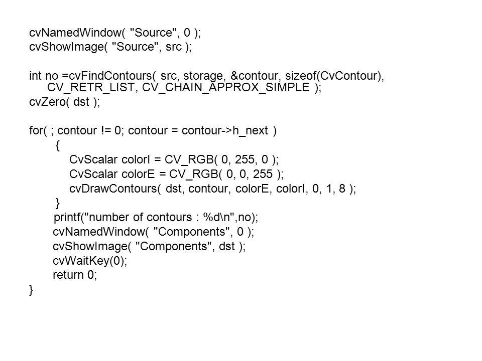 cvNamedWindow( Source , 0 );