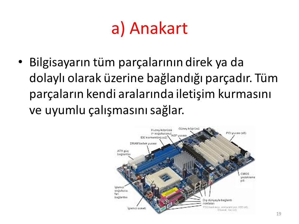 a) Anakart