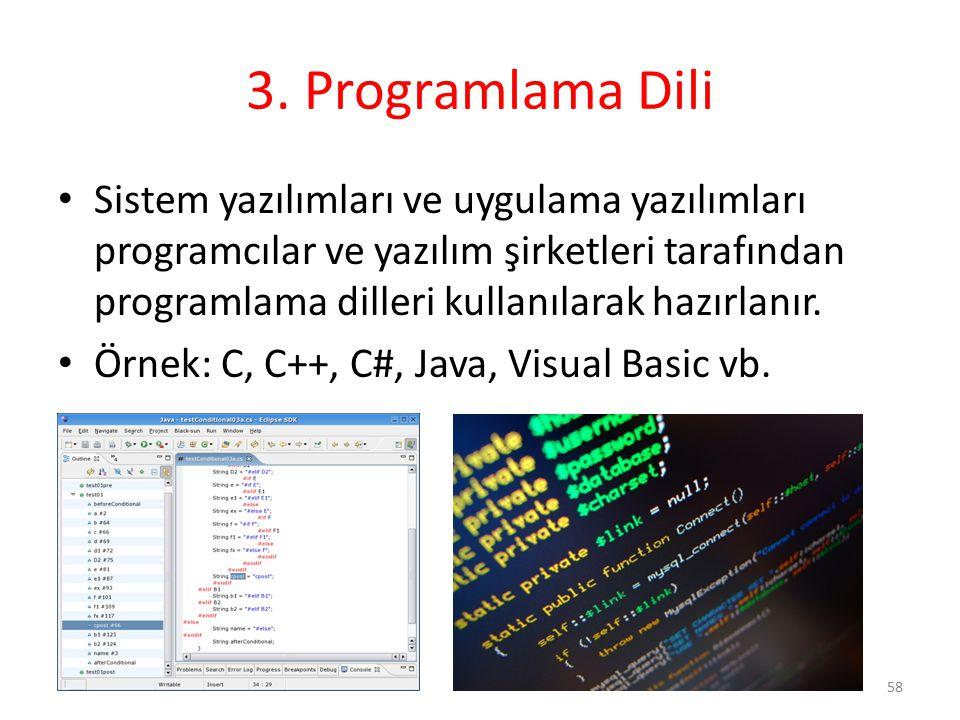 3. Programlama Dili