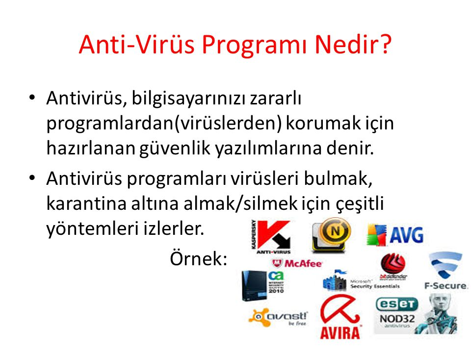 Anti-Virüs Programı Nedir