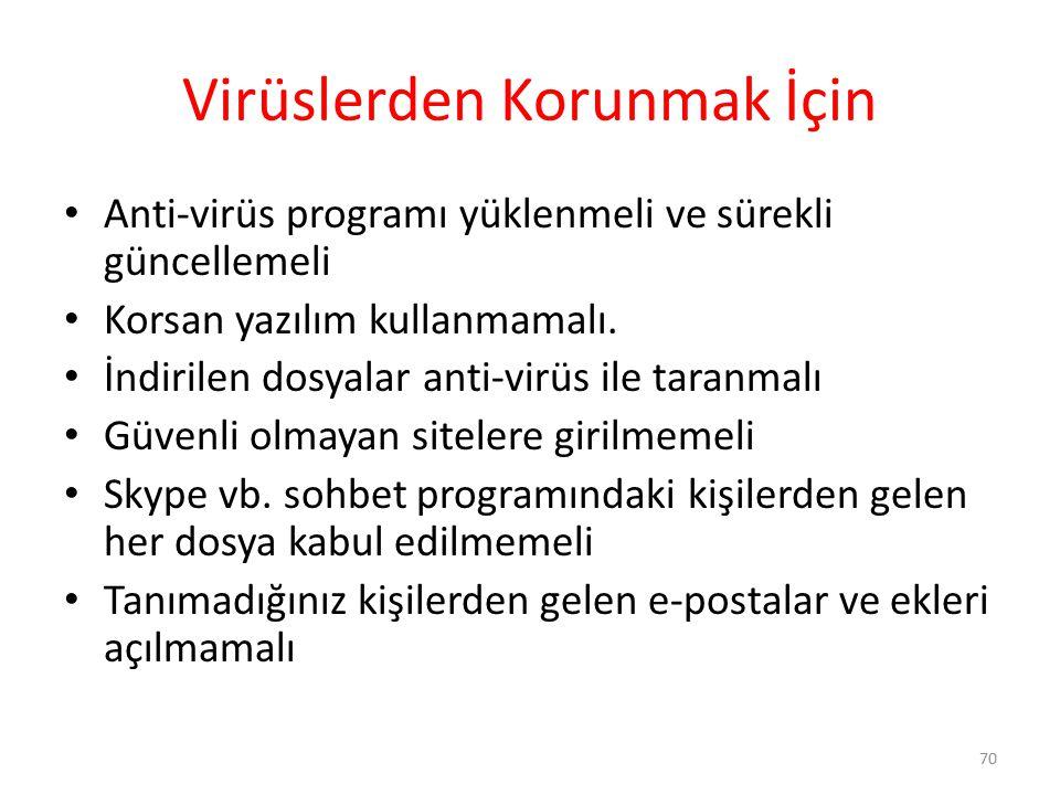 Virüslerden Korunmak İçin