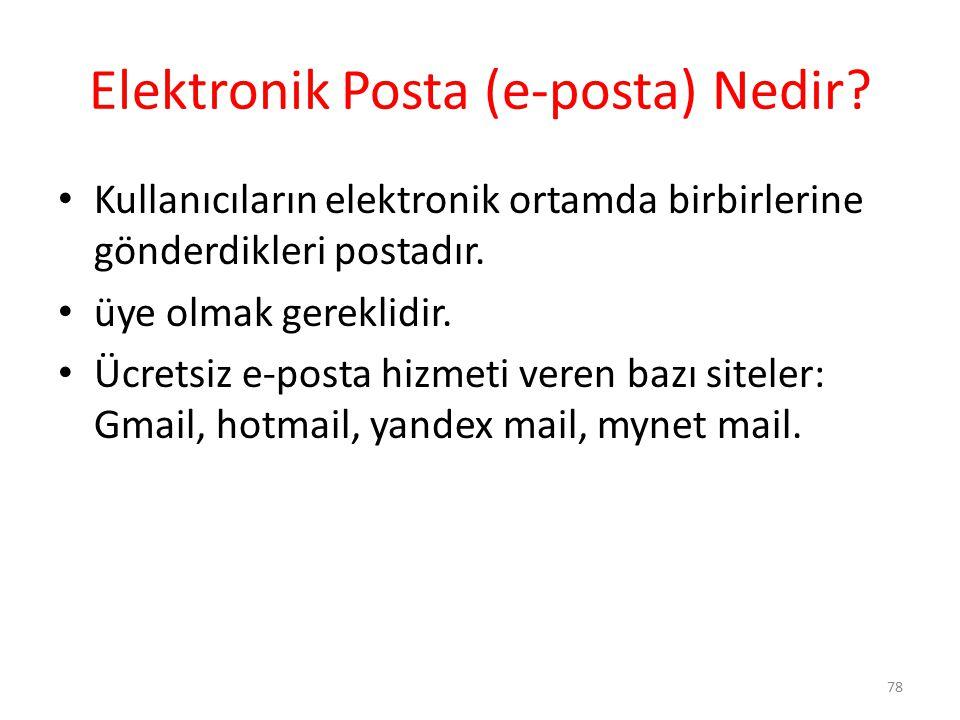 Elektronik Posta (e-posta) Nedir