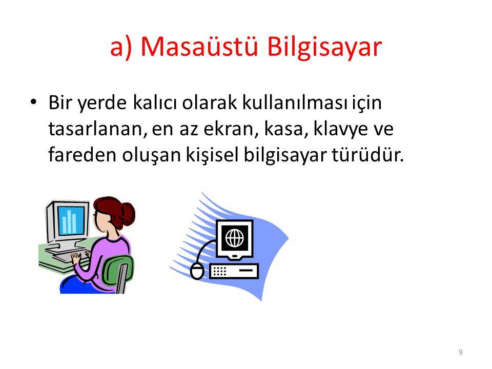a) Masaüstü Bilgisayar