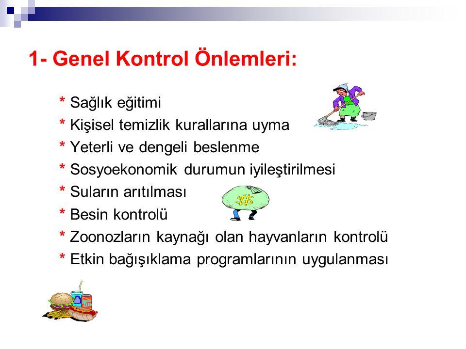 1- Genel Kontrol Önlemleri: