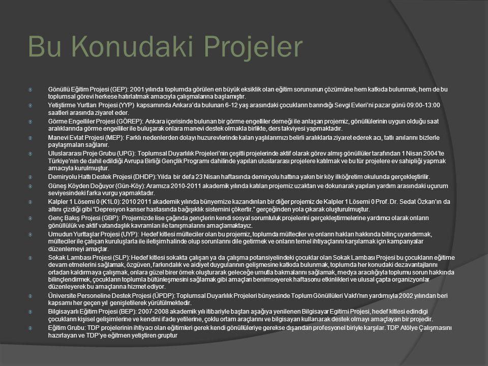 Bu Konudaki Projeler