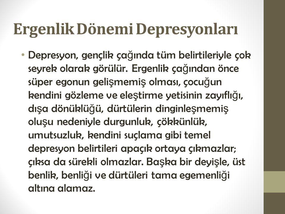 Ergenlik Dönemi Depresyonları