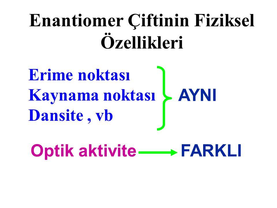Enantiomer Çiftinin Fiziksel Özellikleri