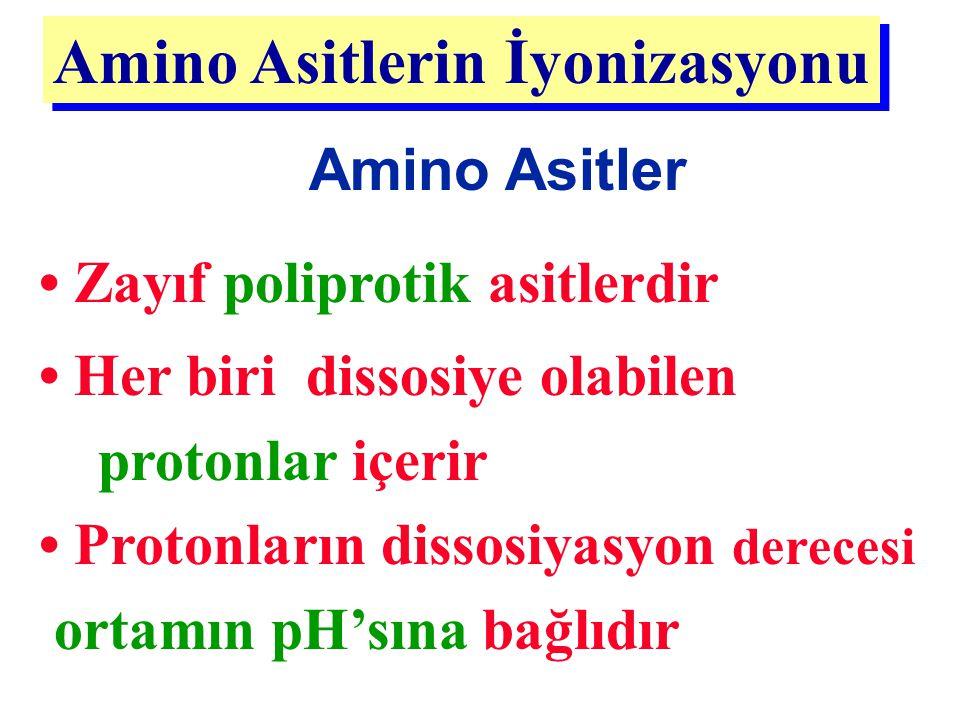 Amino Asitlerin İyonizasyonu