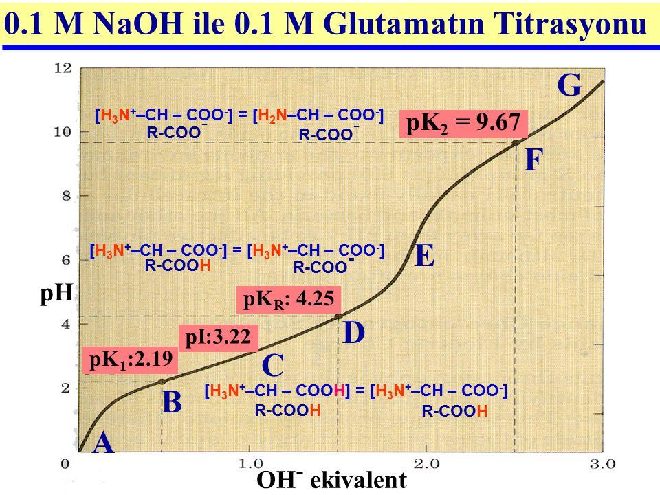 0.1 M NaOH ile 0.1 M Glutamatın Titrasyonu