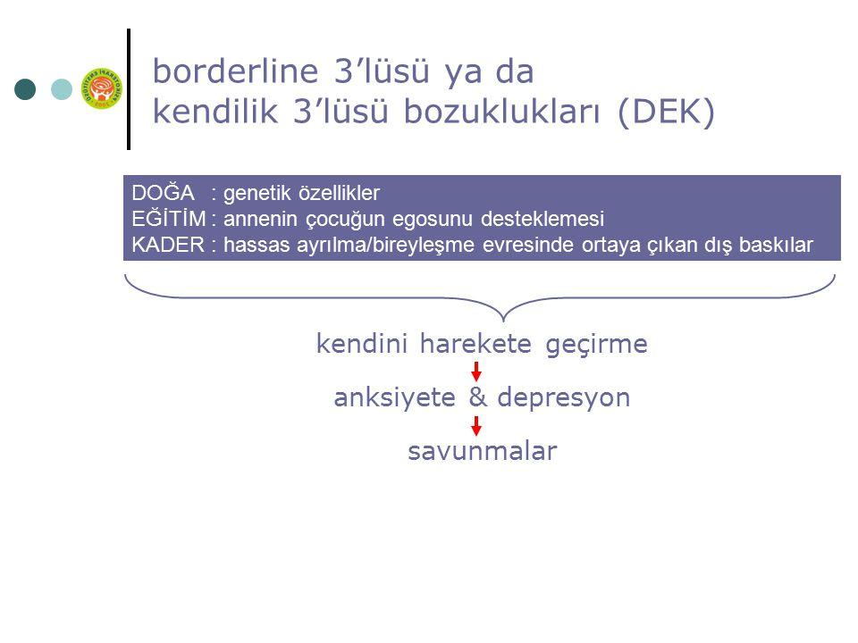 borderline 3'lüsü ya da kendilik 3'lüsü bozuklukları (DEK)