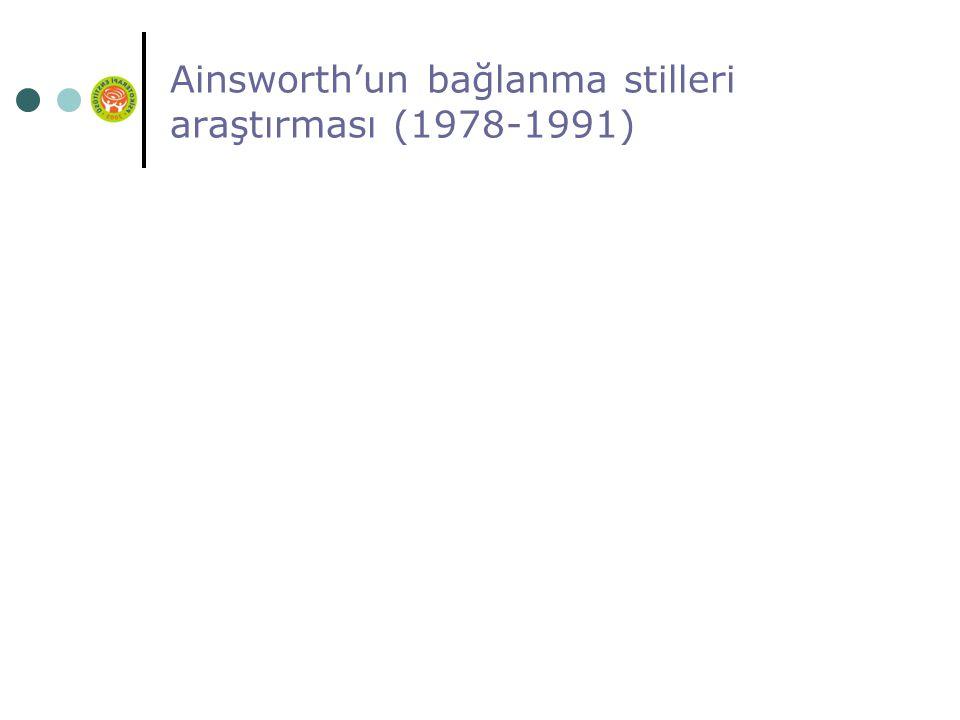 Ainsworth'un bağlanma stilleri araştırması (1978-1991)