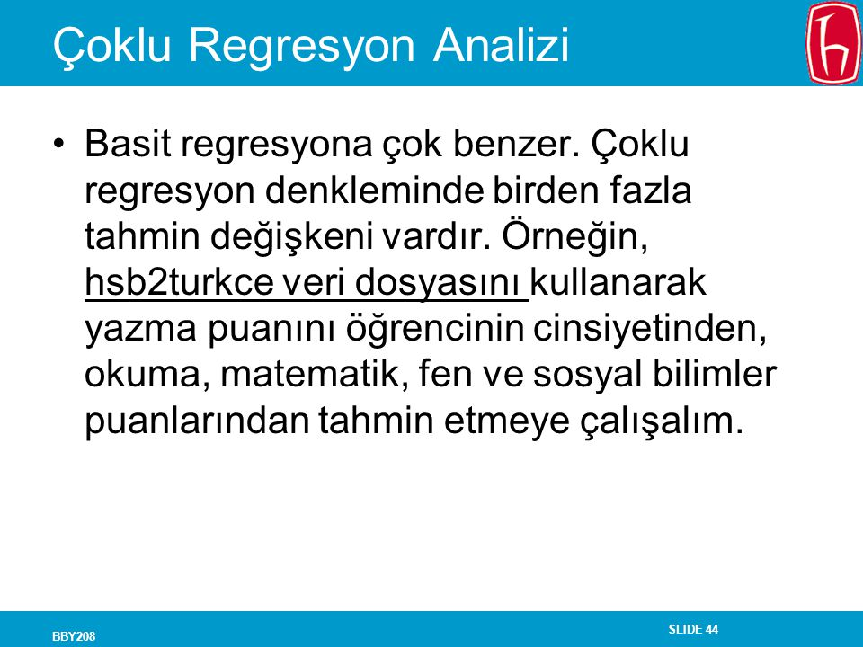 Çoklu Regresyon Analizi