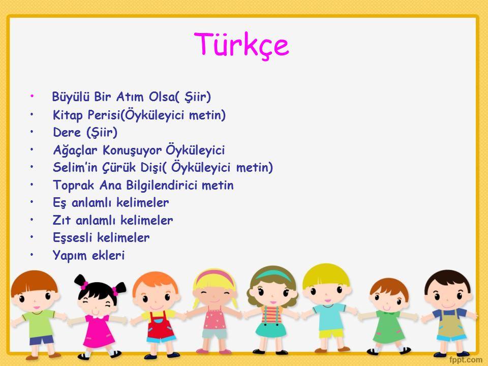 Türkçe Büyülü Bir Atım Olsa( Şiir) Kitap Perisi(Öyküleyici metin)