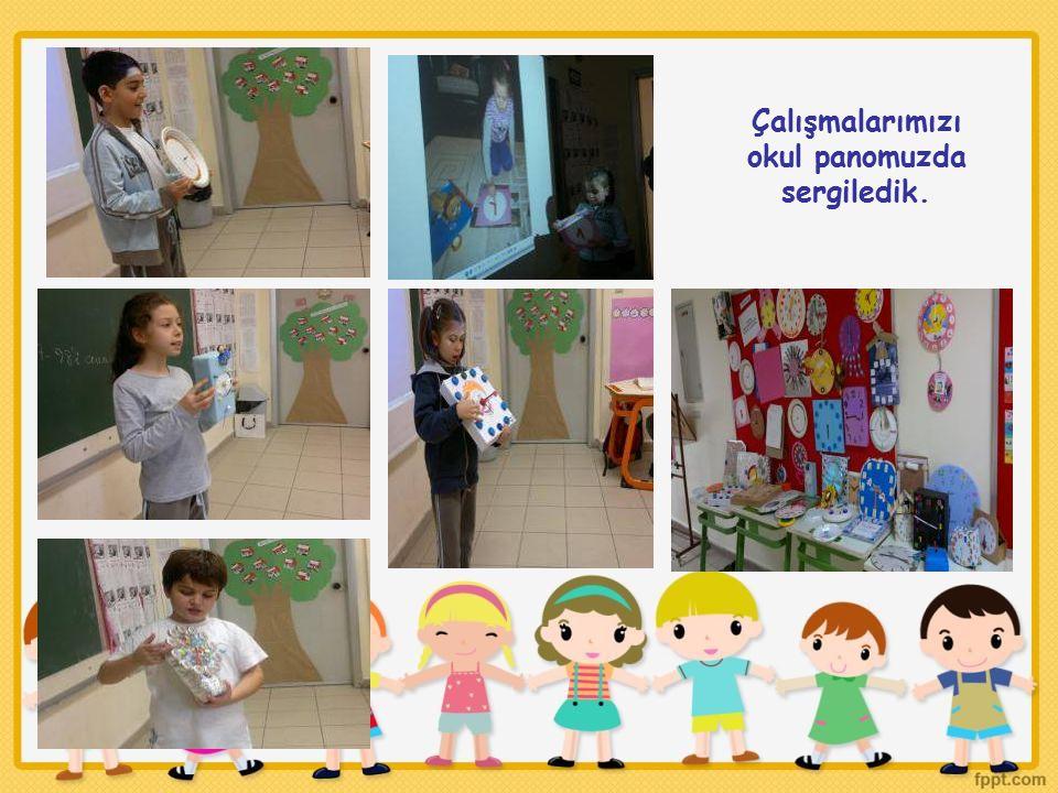 Çalışmalarımızı okul panomuzda sergiledik.