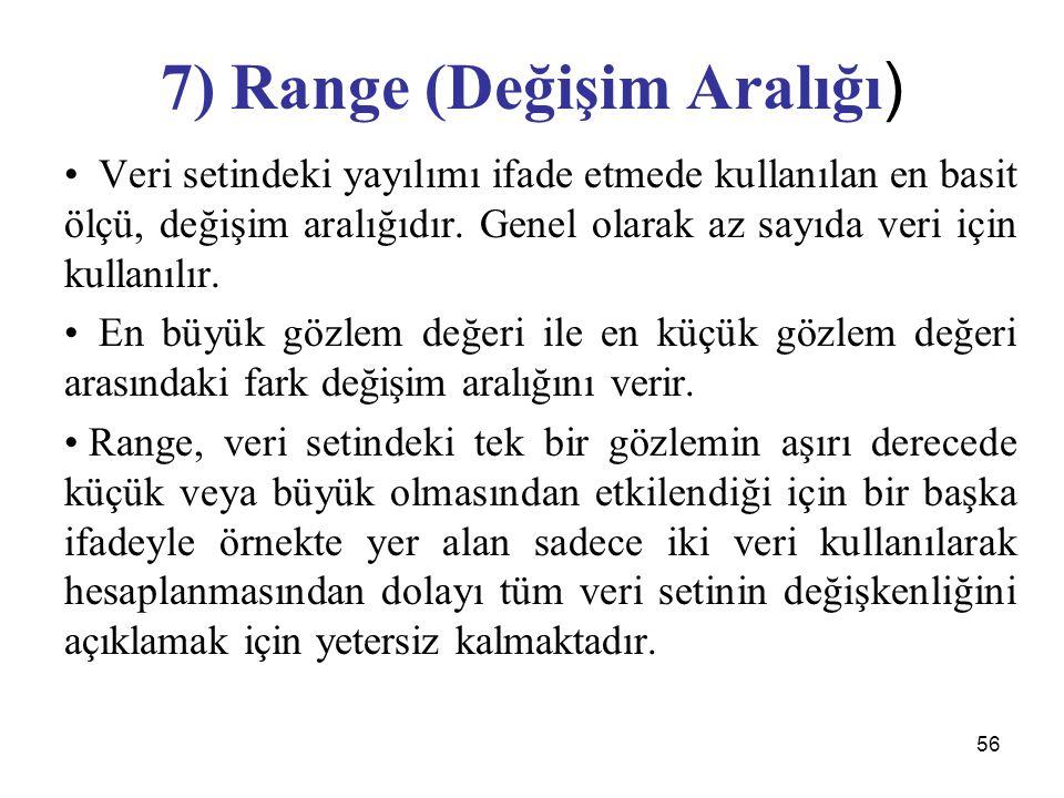 7) Range (Değişim Aralığı)