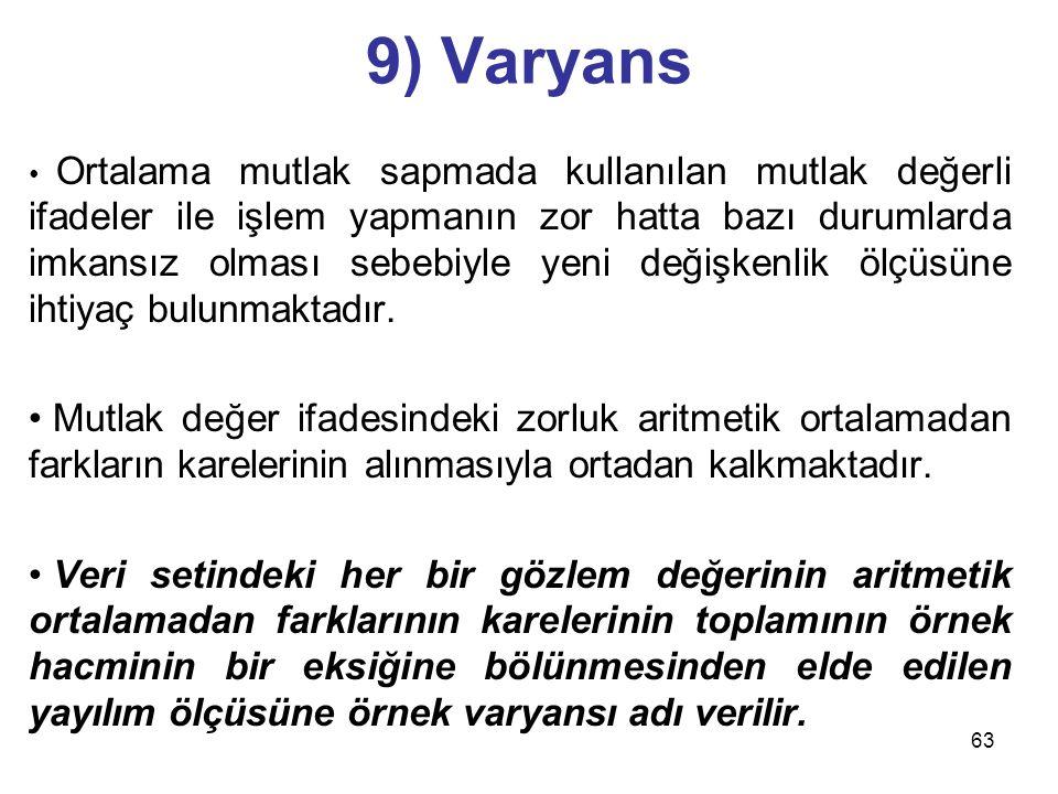9) Varyans
