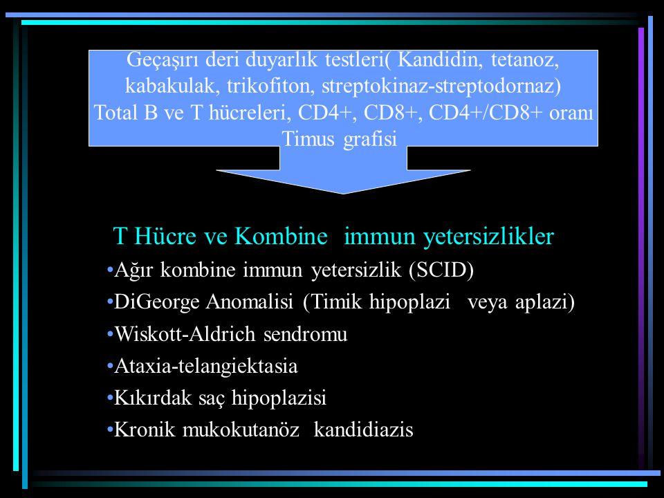 T Hücre ve Kombine immun yetersizlikler