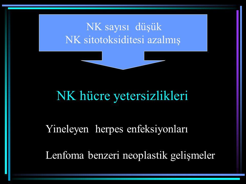 NK hücre yetersizlikleri