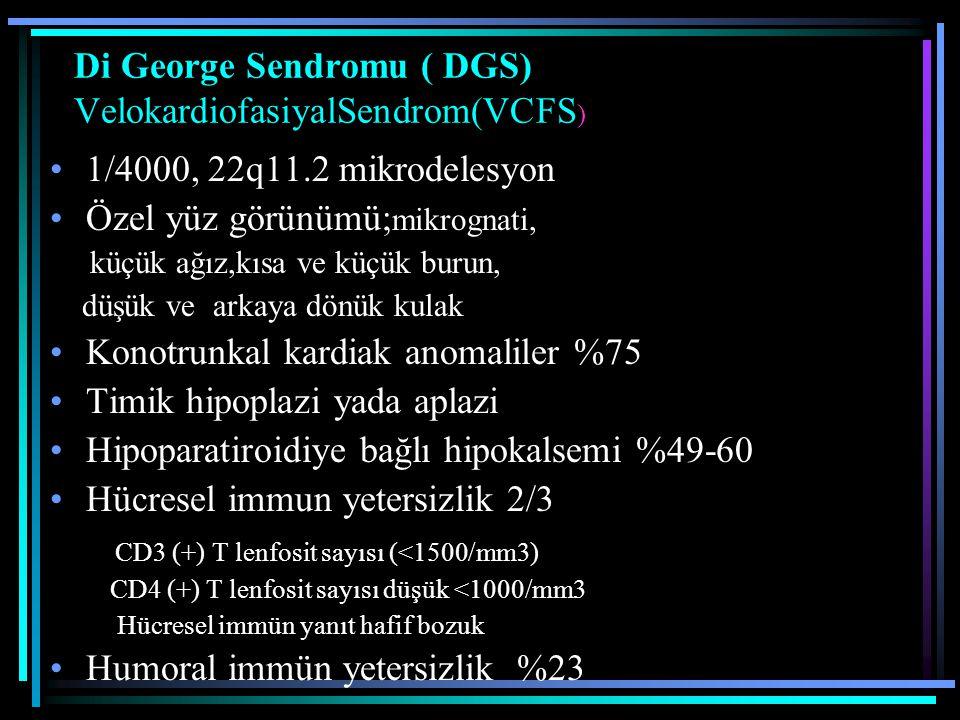 Di George Sendromu ( DGS) VelokardiofasiyalSendrom(VCFS)