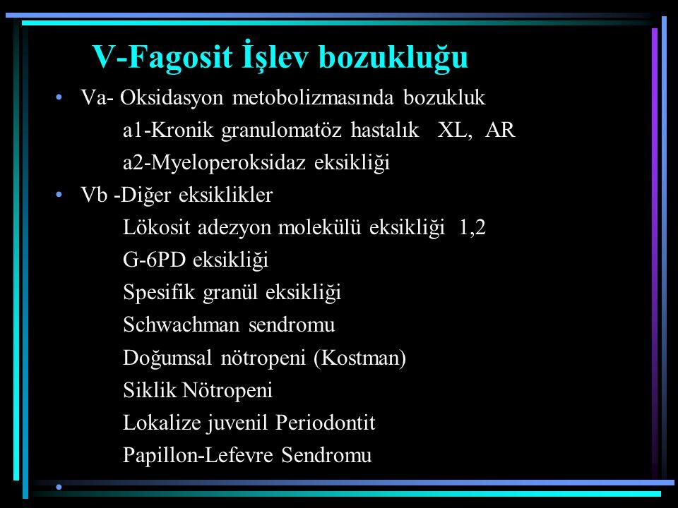V-Fagosit İşlev bozukluğu