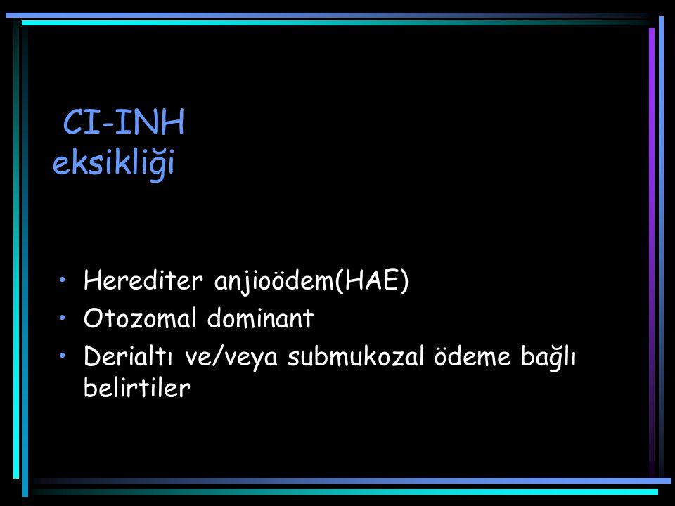 CI-INH eksikliği Herediter anjioödem(HAE) Otozomal dominant
