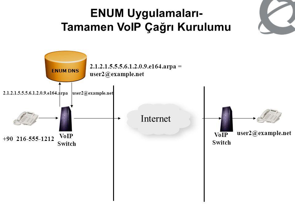 ENUM Uygulamaları- Tamamen VoIP Çağrı Kurulumu