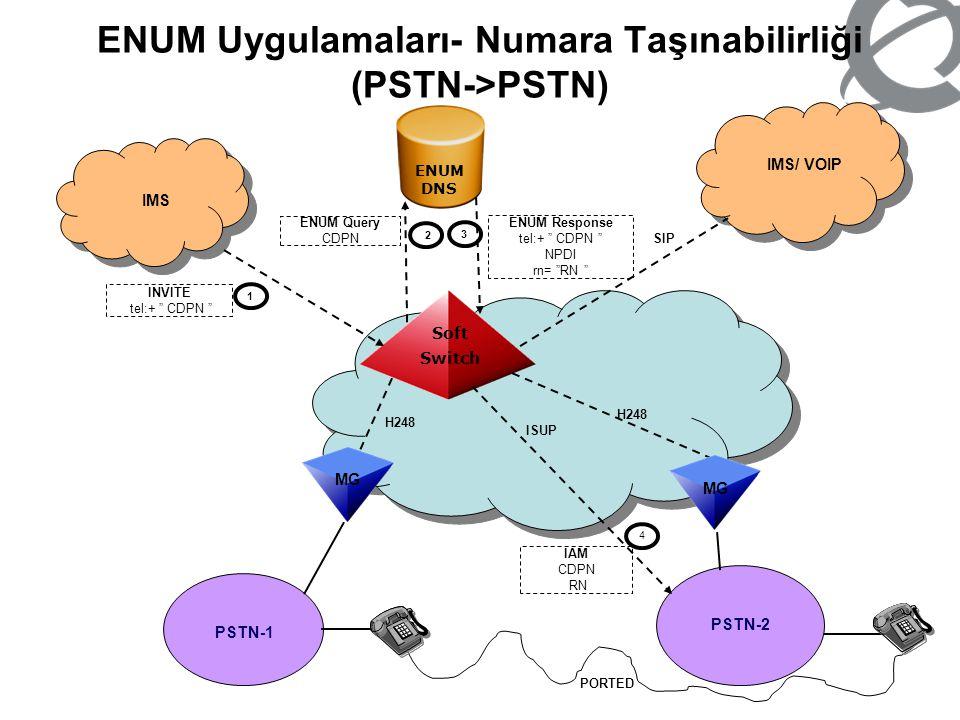 ENUM Uygulamaları- Numara Taşınabilirliği (PSTN->PSTN)