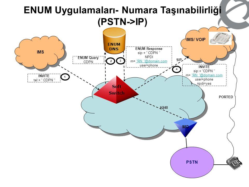 ENUM Uygulamaları- Numara Taşınabilirliği (PSTN->IP)