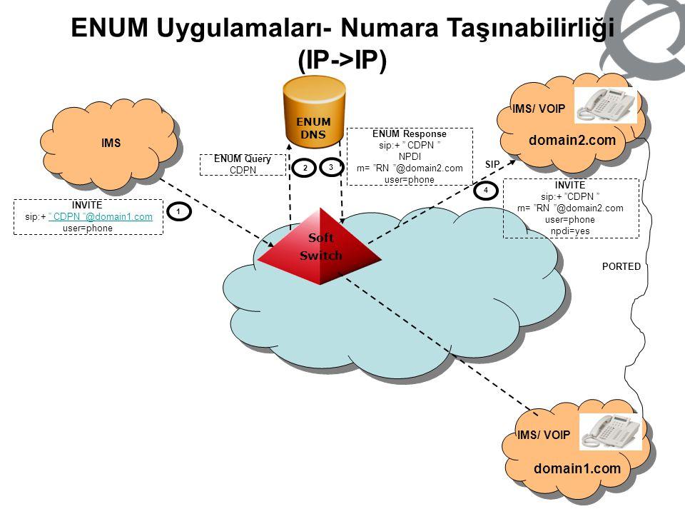 ENUM Uygulamaları- Numara Taşınabilirliği (IP->IP)