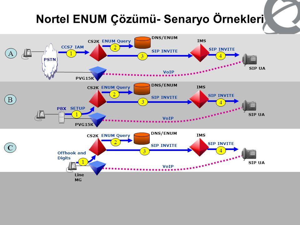 Nortel ENUM Çözümü- Senaryo Örnekleri