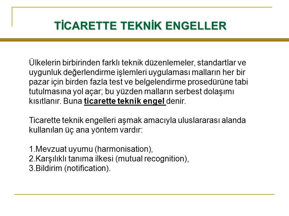 TİCARETTE TEKNİK ENGELLER