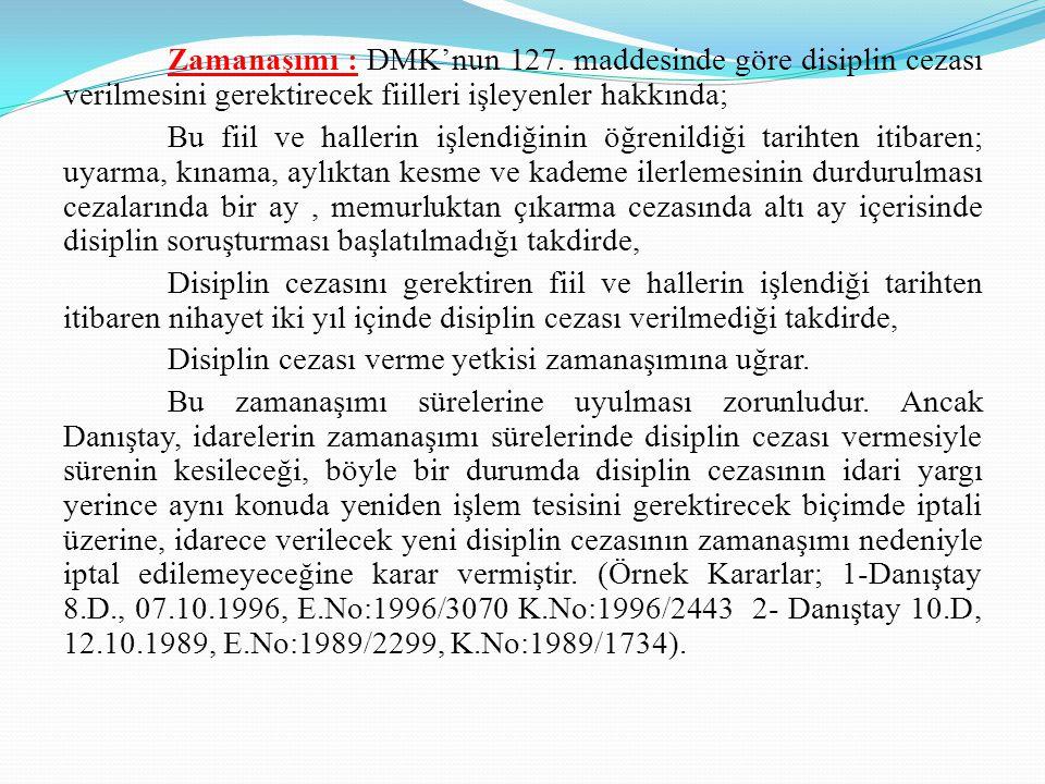 Zamanaşımı : DMK'nun 127.