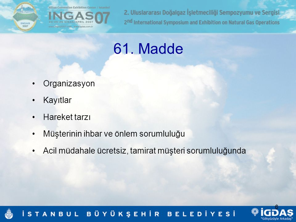61. Madde Organizasyon Kayıtlar Hareket tarzı