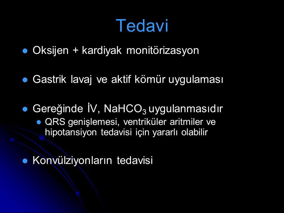 Tedavi Oksijen + kardiyak monitörizasyon