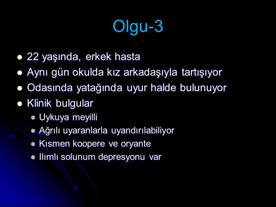 Olgu-3 22 yaşında, erkek hasta