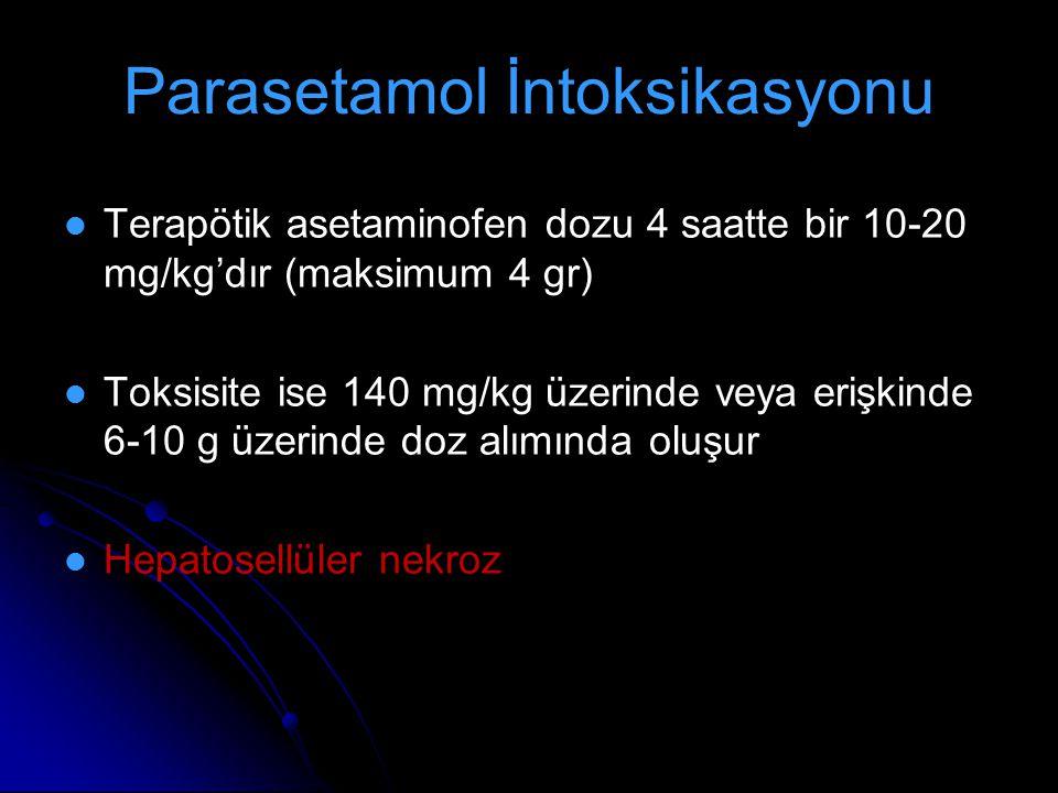 Parasetamol İntoksikasyonu