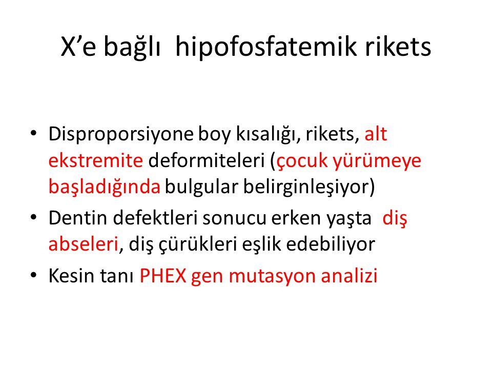 X'e bağlı hipofosfatemik rikets
