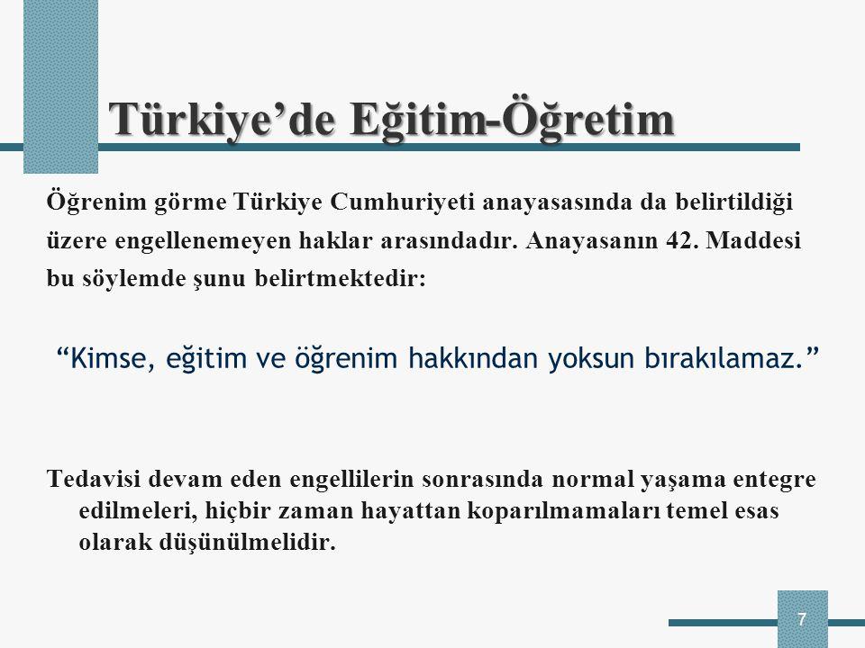 Türkiye'de Eğitim-Öğretim