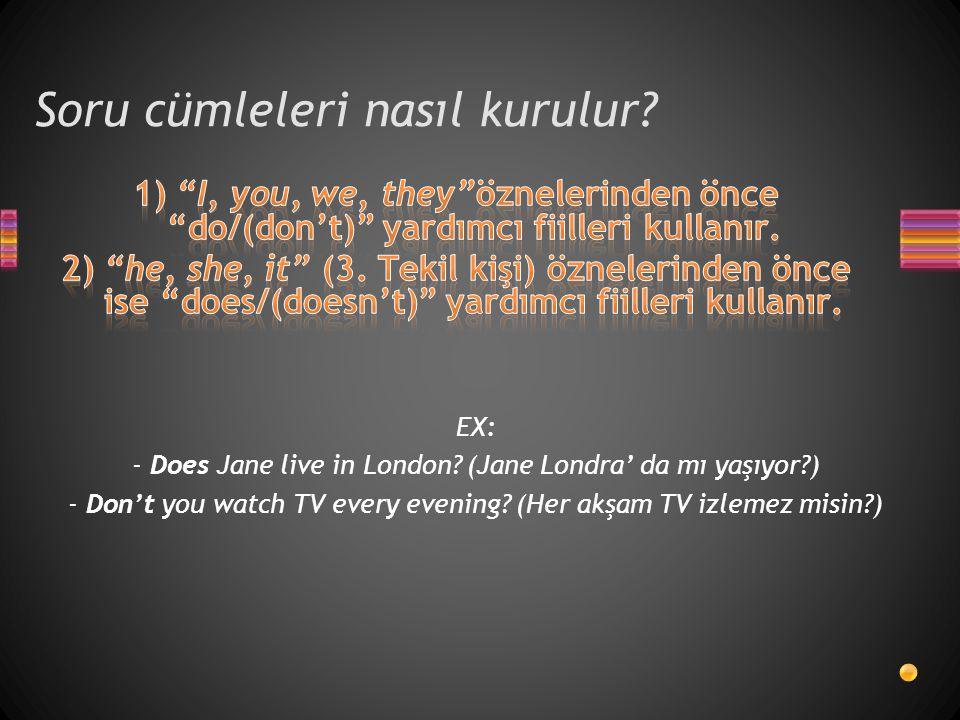Soru cümleleri nasıl kurulur