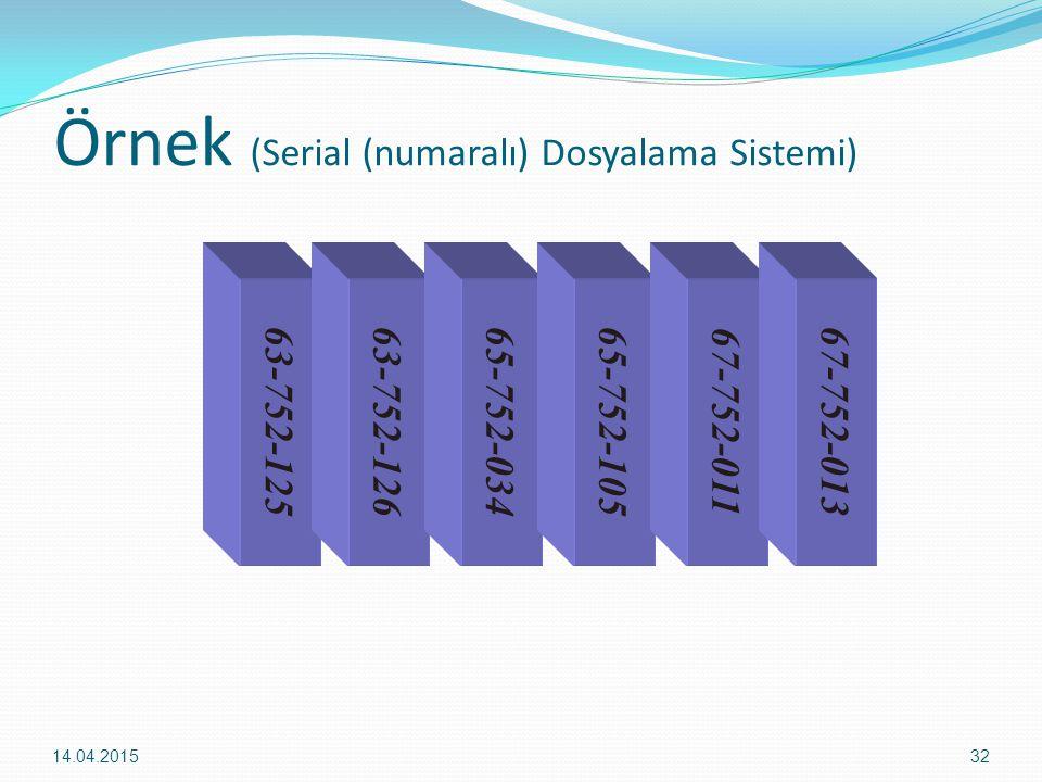 Örnek (Serial (numaralı) Dosyalama Sistemi)
